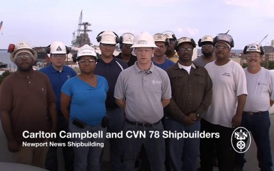 Newport News Shipbuilding Honors President Ford on his 101st Birthday