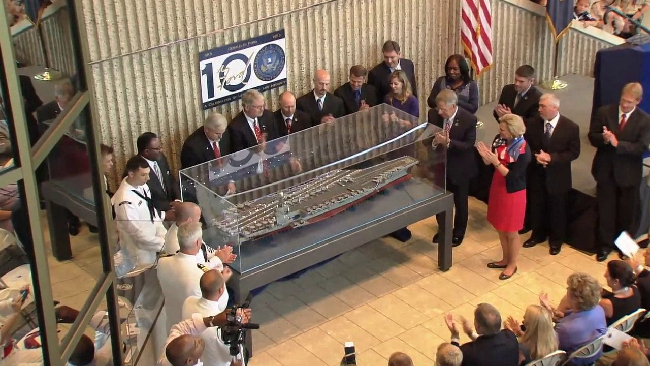 Uss Gerald R Ford Cvn 78 Model Unveiling Gerald R Ford