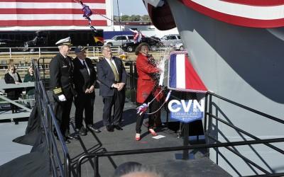 USS Gerald R. Ford Christening Photos