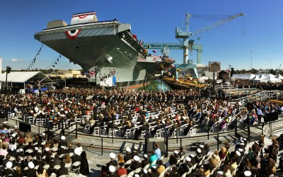 David Hume Kennerly USS Gerald R. Ford Christening Photos