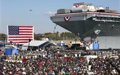 USS Gerald R. Ford Christening Video