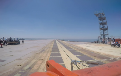 GoPro attached to sled during CVN 78 EMALS testing