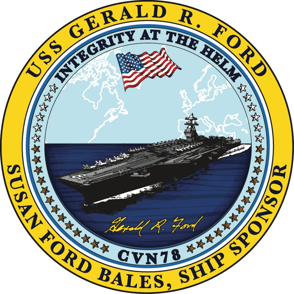 NEW USS Gerald R Ford Sponsor Seal (as of 11-15-15)