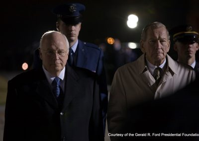 President Ford's body Arrives In Washington