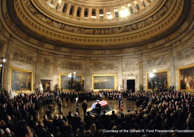 Congress honors former President Gerald R. Ford in the Rotunda of the U.S. Capitol