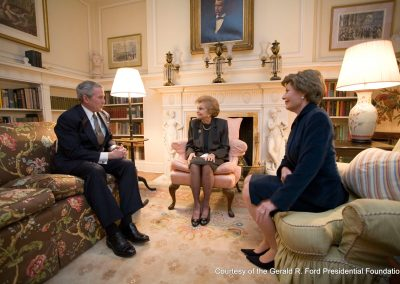 President Bush Greets Betty Ford