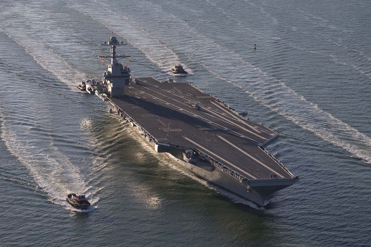 USS Gerald R. Ford Heads To Sea For First Time